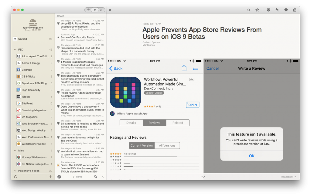 Large Images on MacStories within Reeder for OS X.