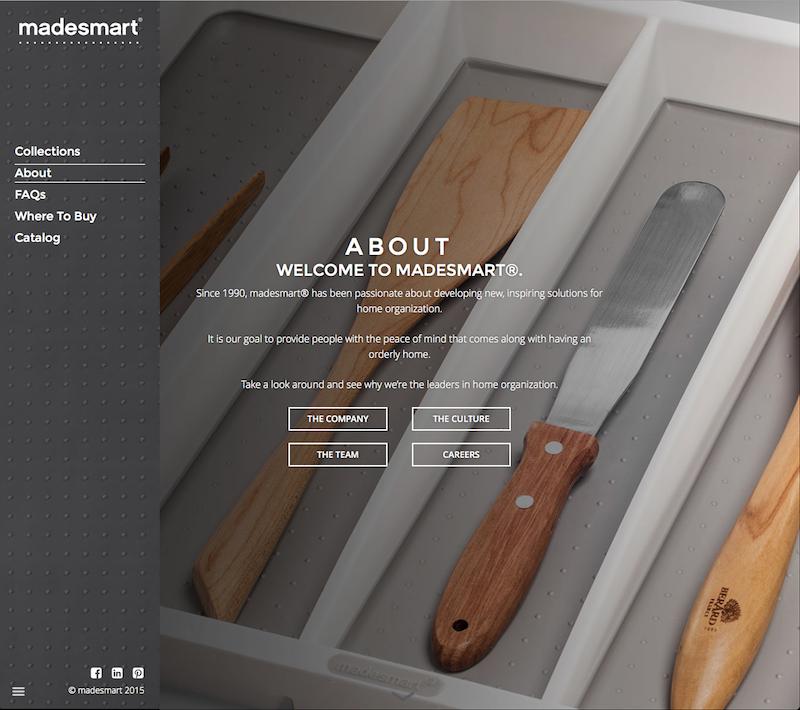 Screenshot of MadeSmart Website (Home)