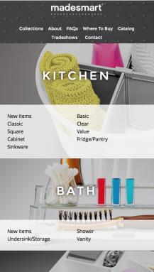 Screenshot of MadeSmart Website (Mobile)