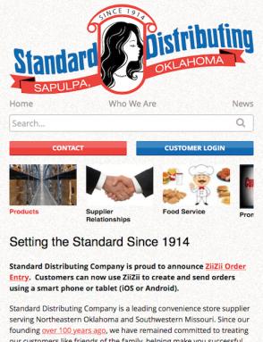 Standard Distributing Mobile Screenshot