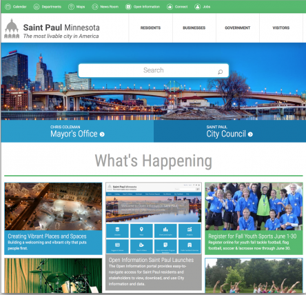 City of Saint Paul Website Desktop Screenshot