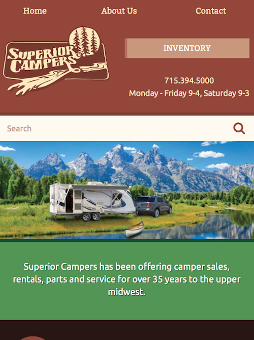Superior Campers Mobile Screenshot