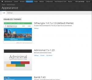 """Adminimal"" admin theme for Drupal"